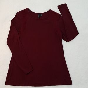 Cynthia Rowley long sleeve burgandy tunic